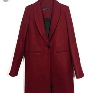 Zara Red Peacoat